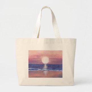 Sueño de la playa de Flagler Bolsa Tela Grande