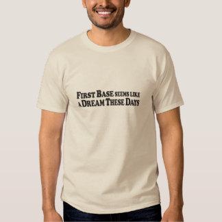 Sueño de la primera base - camiseta básica playeras
