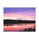 Sueño de la puesta del sol sobre el Delaware Impresiones En Lona