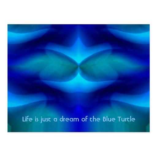 Sueño de la tortuga azul tarjeta postal