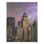 Sueño de la violeta de Nueva York Membretes Personalizados