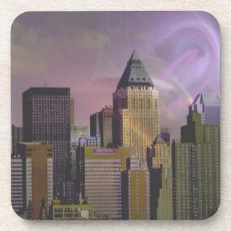 Sueño de la violeta de Nueva York Posavasos De Bebidas