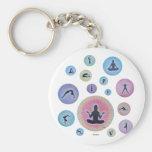 sueño de la yoga llaveros personalizados