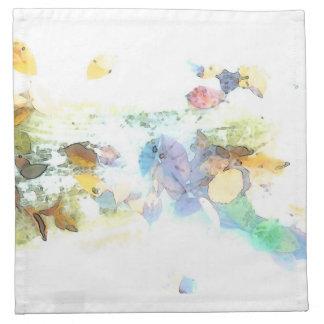 Sueño de las hojas servilleta de papel