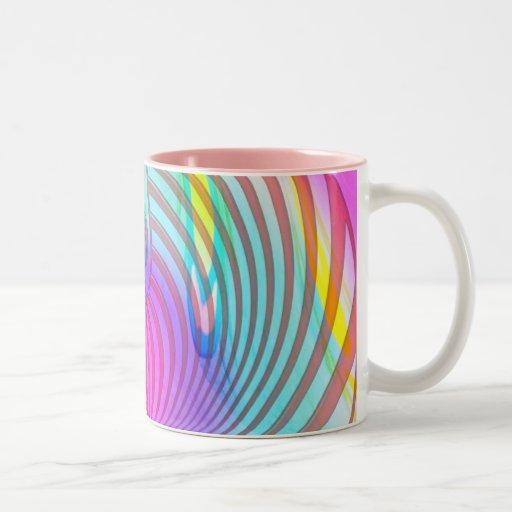 Sueño de las karmas taza de café de dos colores