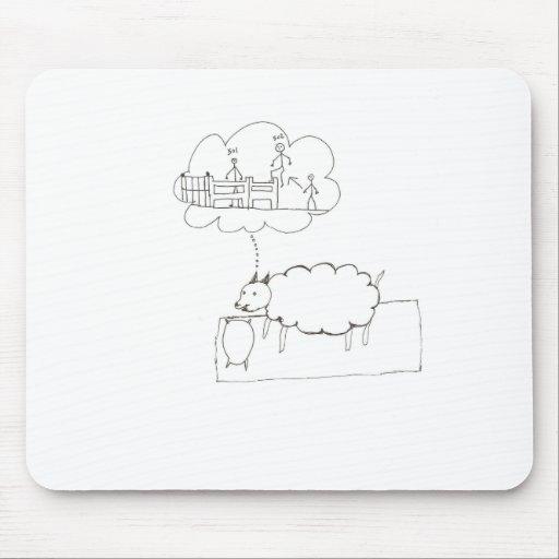 Sueño de las ovejas tapetes de ratones