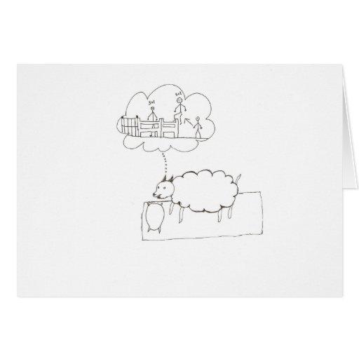 Sueño de las ovejas tarjeta de felicitación
