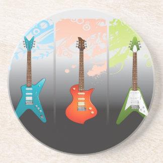 Sueño de los amantes de la guitarra eléctrica posavasos diseño