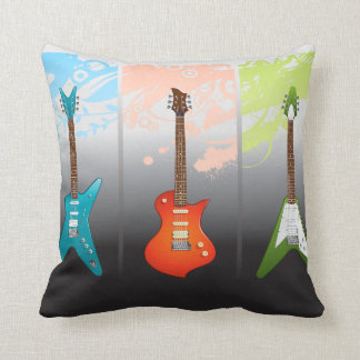 Sueño de los amantes de la guitarra eléctrica cojín decorativo
