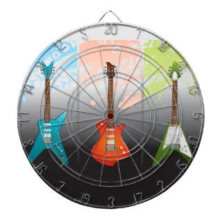 Sueño de los amantes de la guitarra eléctrica tablero de dardos