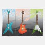 Sueño de los amantes de la guitarra eléctrica toallas