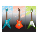 Sueño de los amantes de la guitarra eléctrica tarjetas postales
