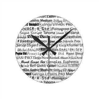 Sueño de los diseñadores gráficos reloj redondo mediano