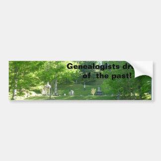 Sueño de los Genealogists del pasado Pegatina Para Auto