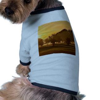 Sueño de los golfistas de la puesta del sol ropa de perros