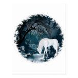 Sueño de los unicornios del río tarjeta postal