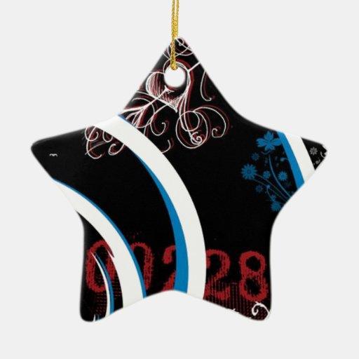 Sueño de medianoche adorno navideño de cerámica en forma de estrella