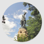 Sueño de Monticello Thomas Jefferson Etiqueta Redonda