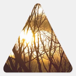Sueño de oro del árbol pegatina triangulo personalizadas