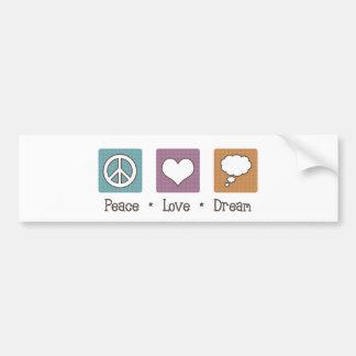 Sueño del amor de la paz pegatina para auto