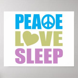 Sueño del amor de la paz póster