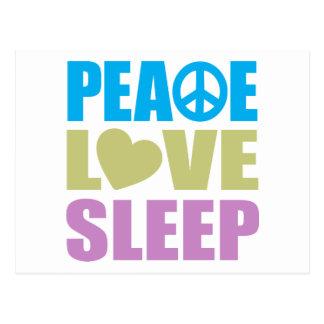 Sueño del amor de la paz postal