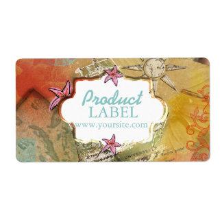 Sueño del Caribe - etiqueta/pegatina del producto Etiquetas De Envío