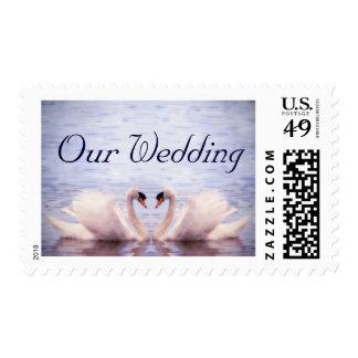 Sueño del cisne, nuestro boda timbre postal
