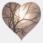 Sueño del claro de luna calcomanía de corazón personalizadas