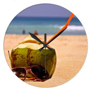 Sueño del coco, reloj de pared