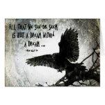 Sueño del cuervo, cumpleaños tarjeta de felicitación