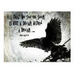 Sueño del cuervo postal