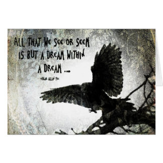 Sueño del cuervo tarjeta de felicitación