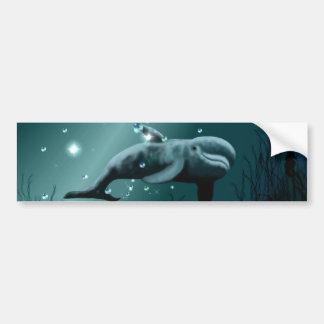 Sueño del delfín pegatina para auto