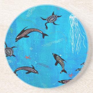 Sueño del delfín posavasos para bebidas