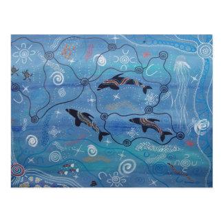 Sueño del delfín tarjeta postal