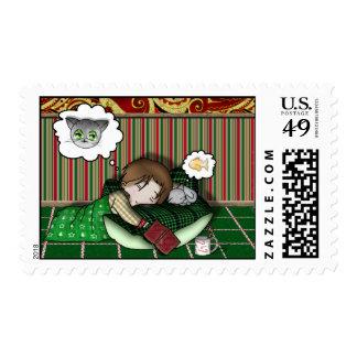 Sueño del día de fiesta del animado sello postal