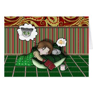 Sueño del día de fiesta del animado tarjeta de felicitación