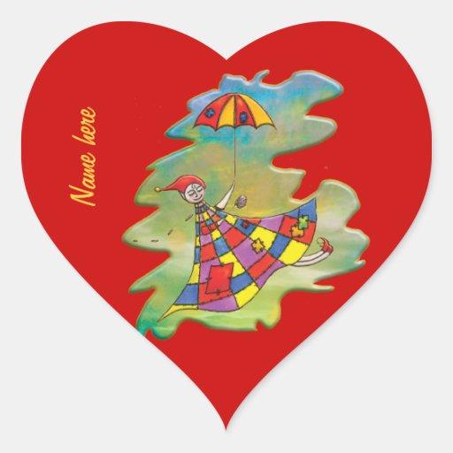 Sueño del día ventoso calcomania corazon personalizadas