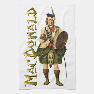 Sueño del escocés de MacDonald del clan Toallas De Cocina