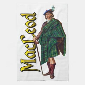 Sueño del escocés de MacLeod del clan Toalla
