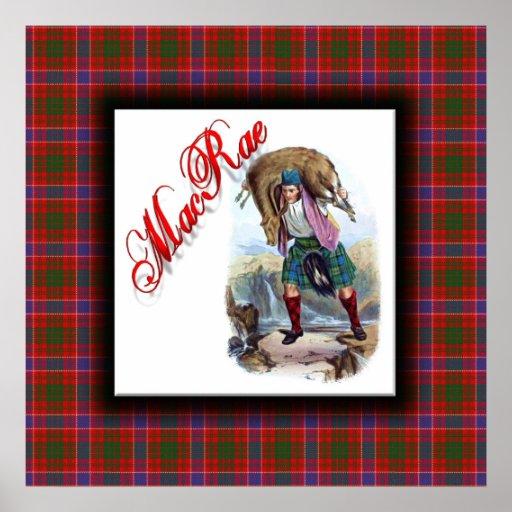 Sueño del escocés de MacRae del clan Posters
