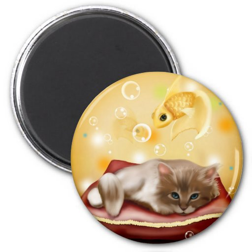 Sueño del gatito iman
