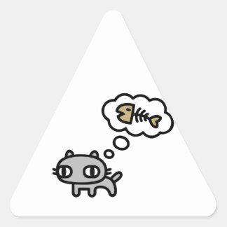 Sueño del gato calcomanías de trianguloes personalizadas