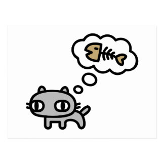 Sueño del gato postal