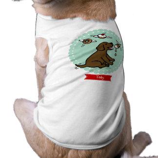 Sueño del helado de Labrador del chocolate Playera Sin Mangas Para Perro