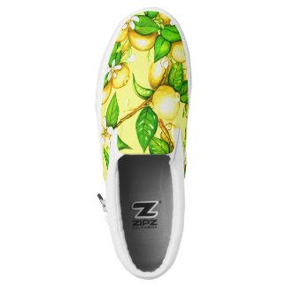 Sueño del limón en los zapatos en amarillo zapatillas