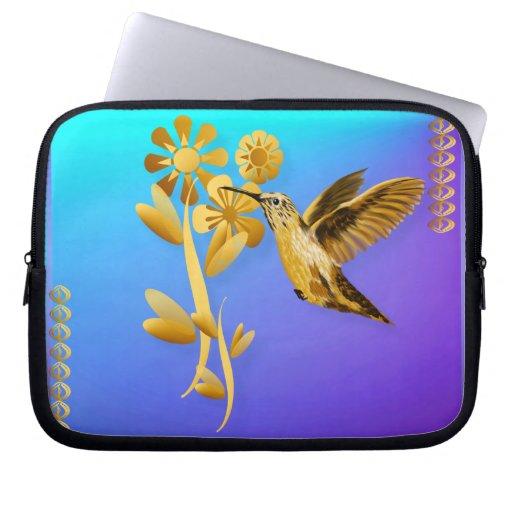 Sueño del ordenador portátil del colibrí del oro manga portátil