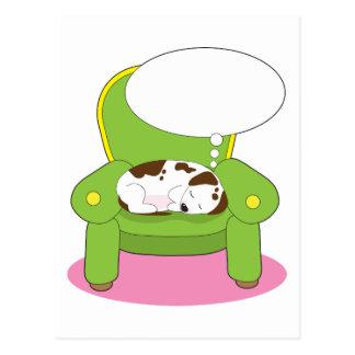 Sueño del perro tarjetas postales