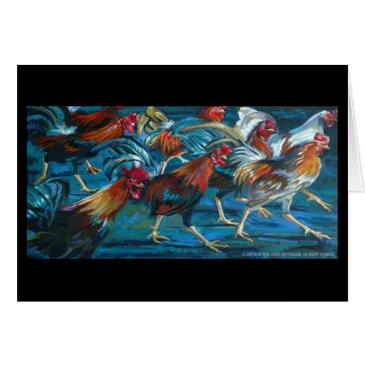 Sueño del poder del gallo tarjetón
